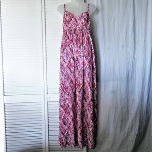 Felicity & Coco red pink purple maxi dress M